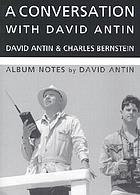 A conversation with David Antin