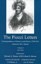 The Piozzi letters : correspondence of Hester Lynch Piozzi, 1784-1821 (formerly Mrs. Thrale)