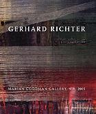 Gerhard Richter : paintings from 2003-2005