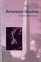 American studies : essays in honour of Marcus Cunliffe
