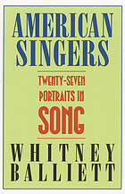 American singers : twenty-seven portraits in song
