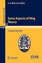Some aspects of ring theory