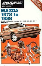 Chilton Book Company repair manual. all U.S. and Canadian models of RX-7, GLC, 323, 626, 929, MX-6, MPV