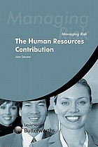 Managing risk the human resources contribution
