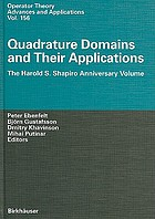 Quadrature domains and their applications the Harold S. Shapiro anniversary volume