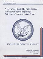The FBI Laboratory : an investigation into laboratory practices and alleged misconduct in explosives-related and other cases