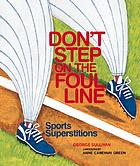 Don't step on the foul line sports superstition