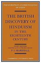The British discovery of Hinduism in the eighteenth century