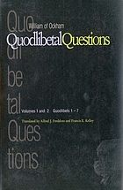 Quodlibetal questions