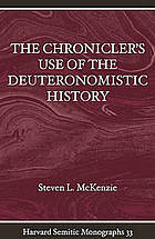 The chronicler's use of the Deuteronomistic history