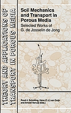 Soil mechanics and transport in porous media selected works of G. de Josselin de Jong