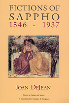 Fictions of Sappho, 1546-1937