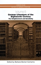 German literature of the eighteenth century : the enlightenment and sensibility