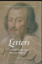 Letters from Sir James Spens and Jan Rutgers