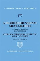 A higher-dimensional sieve method : with procedures for computing sieve functions