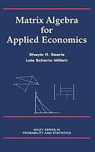 Matrix algebra for applied economics