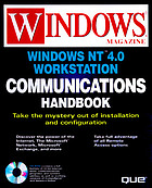 Windows NT Workstation 4.0 Internet and networking handbook