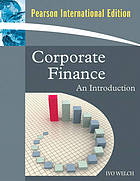Corporate finance : an introduction