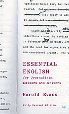 Essential English : for journalists, editors and writers