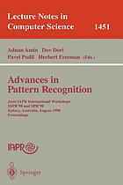 Advances in pattern recognition : joint IAPR International Workshops SSPR'98 and SPR'98, Sydney, Australia, August 11-13, 1998, proceedings