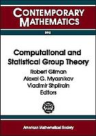 Computational and statistical group theory : AMS Special Session Geometric Group Theory, April 21-22, 2001, Las Vegas, Nevada, AMS Special Session Computational Group Theory, April 28-29, 2001, Hoboken, New Jersey