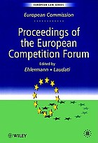 Proceedings of the European Competition Forum