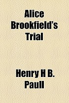 Alice Brookfield's trial