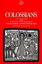Colossians : a new translation with introduction and commentary