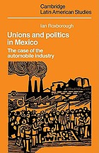 Unions and politics in Mexico : the case of the automobile industry