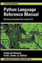 Python language reference manual, release 2.5
