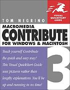 Macromedia Contribute 3 : for Windows and Macintosh