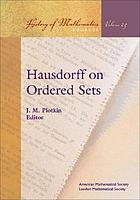 Hausdorff on ordered sets