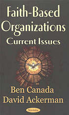 Faith-based organizations : current issues