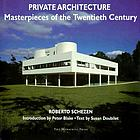 Private architecture : masterpieces of the twentieth century