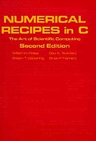 Numerical recipes in C : the art of scientific computingNumerical recipes in CNumerical recipes in C : the art of scientific computing