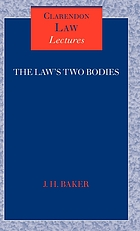 The law's two bodies : some evidential problems in English legal history