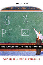 The blackboard and the bottom line why schools can't be businesses