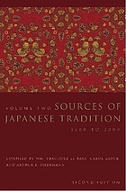 Sources of Japanese tradition Sources of Japanese tradition Sources of Japanese tradition