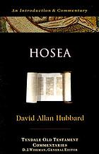 Hosea : an introduction and commentary