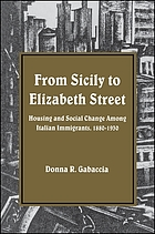 From Sicily to Elizabeth Street : housing and social change among Italian immigrants, 1880-1930