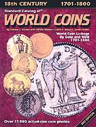 Standard catalog of world coins, Eighteenth century 1701-1800