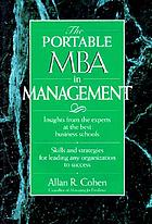 The portable MBA in management