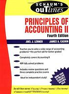 Schaum's outline of theory and problems of principles of accounting II