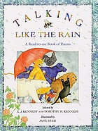 Talking like the rain : a read-to me book of poems