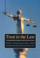 Trust in the law : encouraging public cooperation with the police and courts