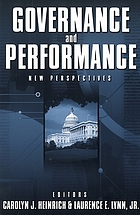 Governance and performance : new perspectives