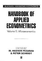 Handbook of applied econometrics