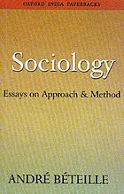 Sociology : essays on approach and method