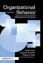 Organizational behavior : a management challenge