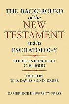 The background of the New Testament and its eschatology